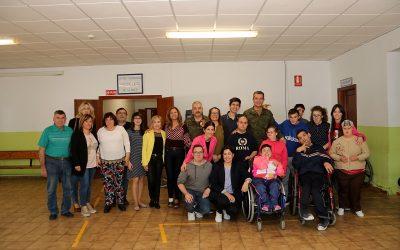 VISITA PADRINO MARSODETO 2019 A ASPRODIQ EN QUINTANAR DE LA ORDEN