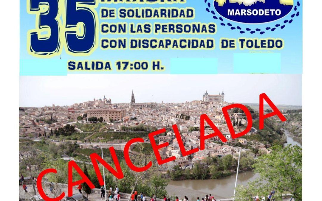 CANCELACIÓN 35 MARCHA DE SOLIDARIDAD CON LAS PERSONAS CON DISCAPACIDAD DE TOLEDO
